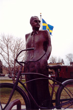 Click to view larger Vilhelm Moberg Statue